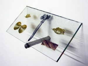 10 cm. Curios (2012) Print Glass.SALT glass studios