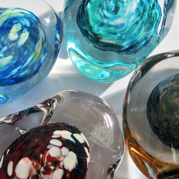 Sea Forms, Paper Weights  (Hot Glass Form)