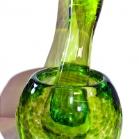 ©SALTglassstudios. Glass Lime Green Pestel & Mortar Gallery.DSCF5965