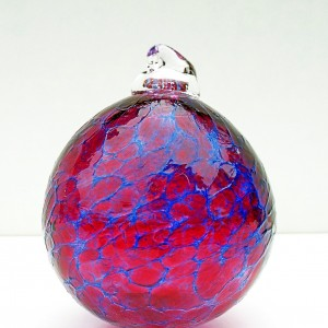 4. ©SALT glass studios. Hand Blown Glass Spheres. Pink  & Blue Transparent. DSCF5573