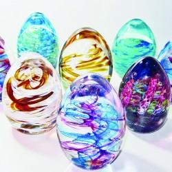 SALT glass studios© 2 Glass Easter Eggs