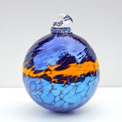4. Handblown Baubles £8 – www.saltglassstudios.co.uk:gallery:. Hand Blown Glass Spheres. Orange & Slive (deleted 8c0760e4057c7958db3708dab22fb42a)