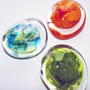 SALT glass studios. Example of Students Paperweight Course.